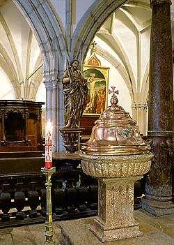 Kostel sv. Víta v Českém Krumlově, křtitelnice, foto: Libor Sváček