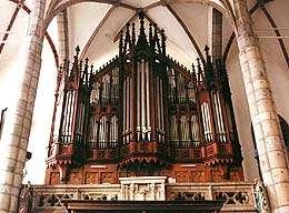 Kostel sv. Víta v Českém Krumlově, hlavní varhany