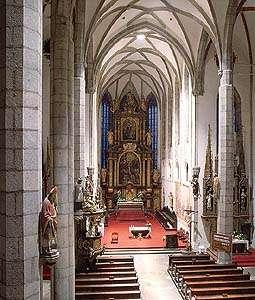 Kirche St. Veit in Český Krumlov, Gewölbe des Hauptschiffes, foto:  Libor Sváček