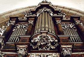 Kirche St. Veit in Český Krumlov, Orgel auf dem Chor der Literatenbruderschaft