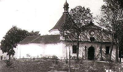 Kaple na Křížové hoře ve městě Český Krumlov, historické foto, foto: F.Wolf