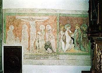 Karel Hrubeš, restaurované gotické fresky v kostele sv. Víta v Českém Krumlově