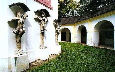 Kaple na Křížové hoře v Českém Krumlově, kalvárie celek