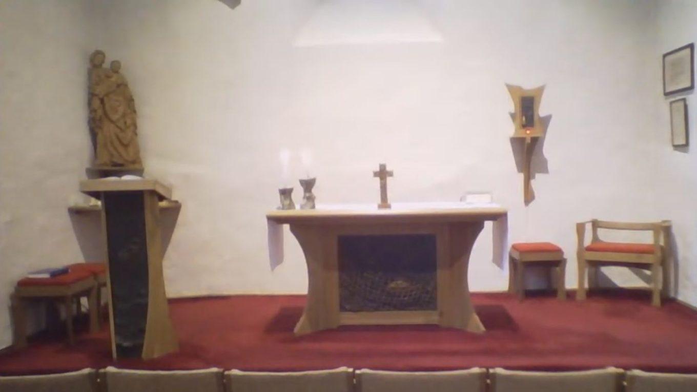 Živý přenos mše svaté ze zimní kaple